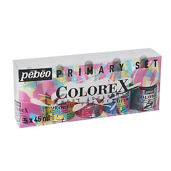 Pebeo Colorex Primary Set 5 x 45ml