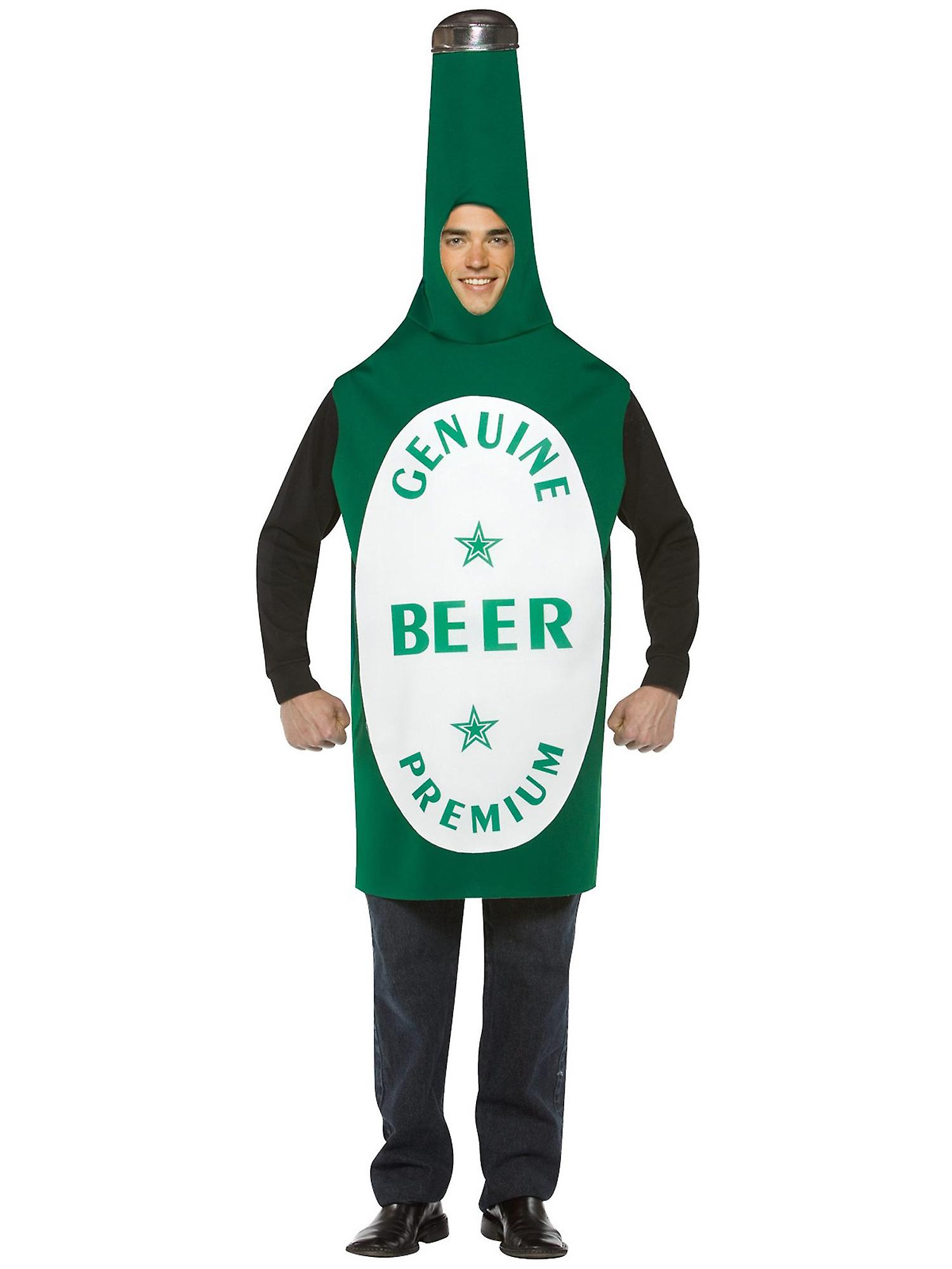 Beer Bottle Drink Oktoberfest German Bavarian Bucks Night Funny Men Costume