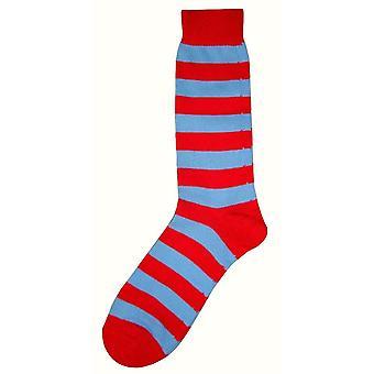 Bassin e marrone a righe Midcalf calze - rosso/blu