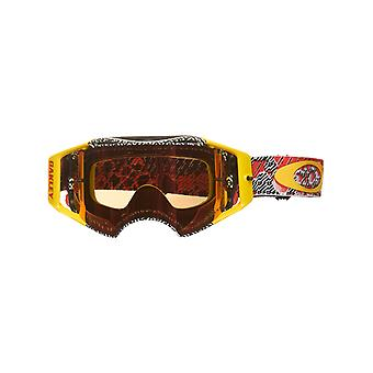 Oakley Red-Yellow Airbrake MX Goggle