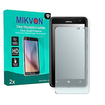 Nokia Lumia 625 Screen Protector - Mikvon Clear (Retail Package with accessories) (reduced foil)