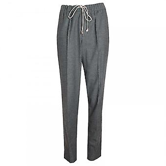 Oui Elastic Waistband Jersey Trousers
