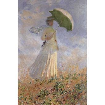 Дама с зонтиком, Клод Моне, 40x60cm с лотка