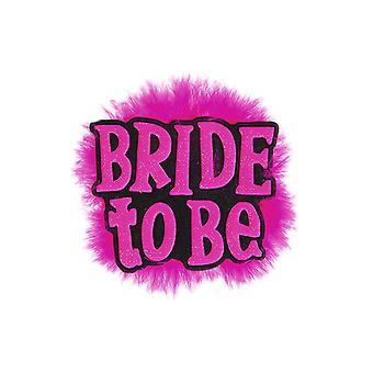 Bride To Be Badge - Black