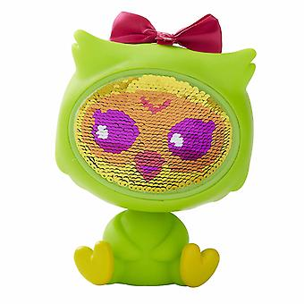 The Zequins Emmy Green Owl Toy Figure Doll With Sequins