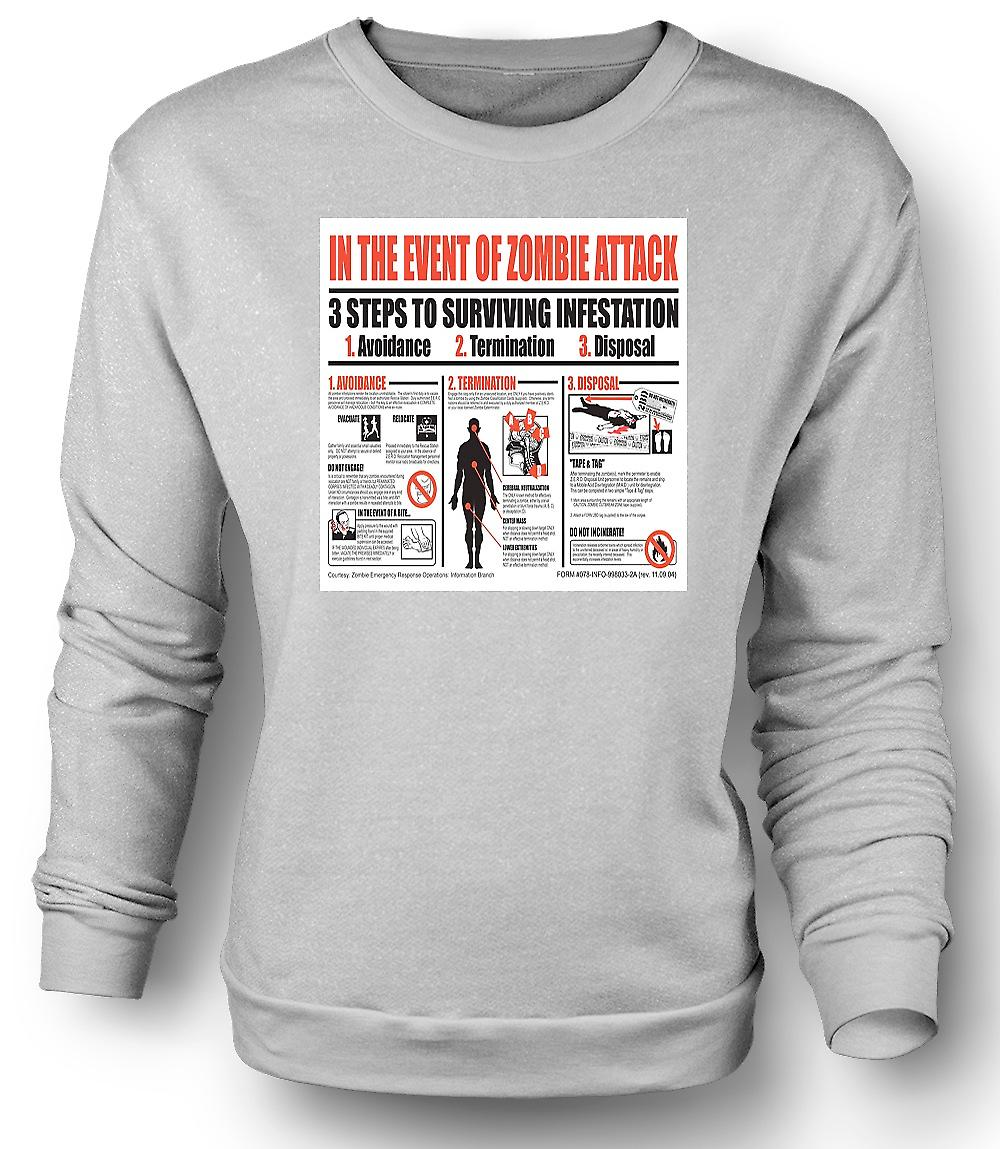 Mens Sweatshirt Zombie Infestation - overlevelse plakat