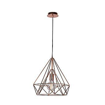 Lucide Ricky Modern Hexagon Metal Copper Pendant Light