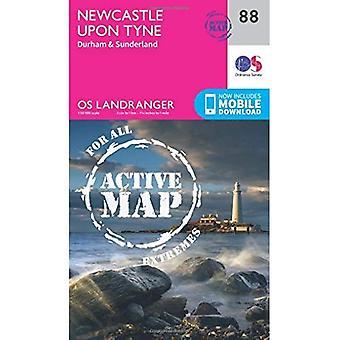 Newcastle Upon Tyne, Durham� & Sunderland (OS Landranger Map)