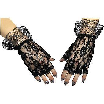 Gloves Black Fingerless 1 Sz