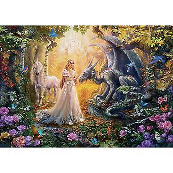Educa Dragon, prinses en Eenhoorn Jigsaw puzzel (1500 stuks)