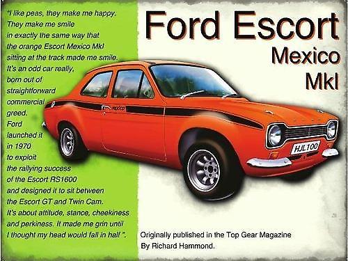 Ford Escort Mexico metal sign   (og 4030)