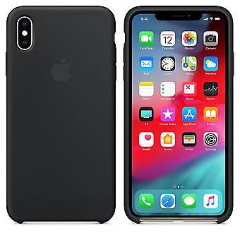 Оригинальной упаковке Apple силиконовые микро-волокно крышку случае для iPhone XS Max - черный