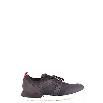 Moncler Black Fabric Sneakers