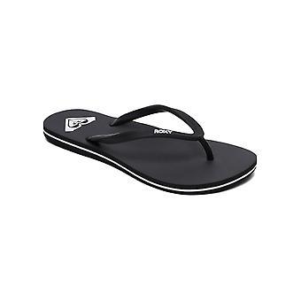 Roxy Womens Azul Casual Thong Beach Sandals - Black