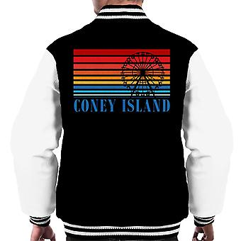 Coney Island Ferris Wheel Retro 70s Men's Varsity Jacket