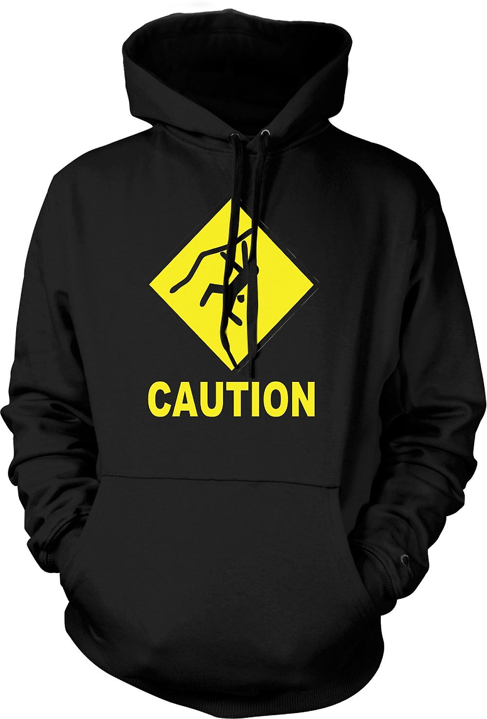 Mens Hoodie - Climbing Low Gravity Ahead - Funny