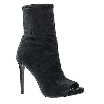 Jessica Simpson Womens Rainer Fabric Peep Toe Mid-Calf Fashion Boots