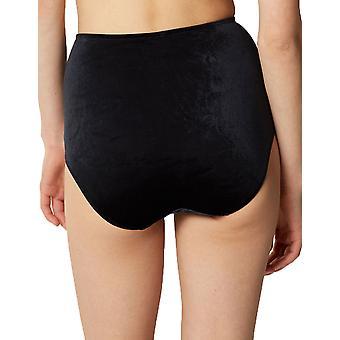 Maison Lejaby 19764-04 Women's Black Dahlia Black Velvet Full Panty Highwaist Brief