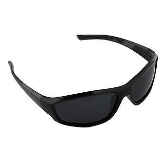 Sonnenbrille UV 400 Sport Rechteck Polarisieren Glas grau schwarz S373_5 FREE BrillenkokerS373_5