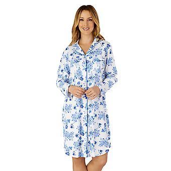 Slenderella NS4202 Femme-apos;s Chemise de nuit en coton floral tissé