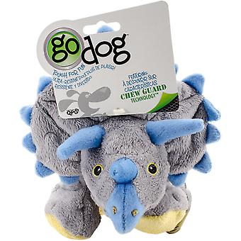 goDog Dinos Frills with Chew Guard Large-Gray 770795