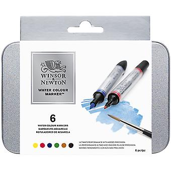 Winsor & Newton Watercolor Marker Set 6 Pkg 290002