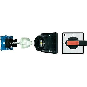 Isolator switch + door interlock 80 A 1 x 90 ° Black Kraus & Naimer KG80 T103/12 VE 1 pc(s)