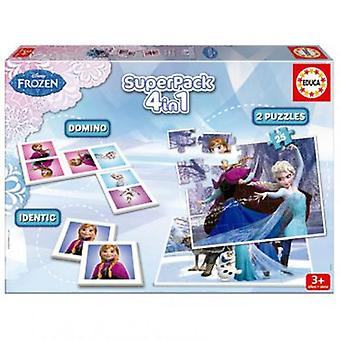 Educa Frozen Superpack 4 in 1 Puzzle (Spielzeuge , Brettspiele , Puzzles)