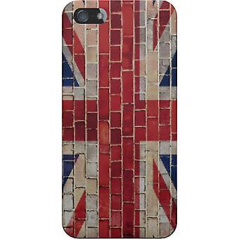Dekking van de Britse vlag bakstenen voor iPhone 5S/SE
