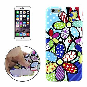 Protective case pouch pouches TPU for phone Apple iPhone 6 motif of colorful flowers