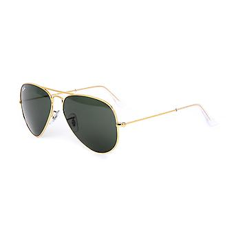 Ray-Ban Gold Frame Classic Aviator Sunglasses