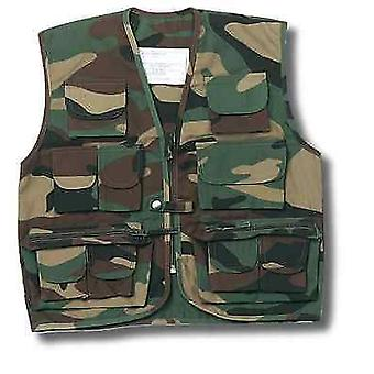 New Kids Multi Pocket Waistcoat Vest Army Uniform