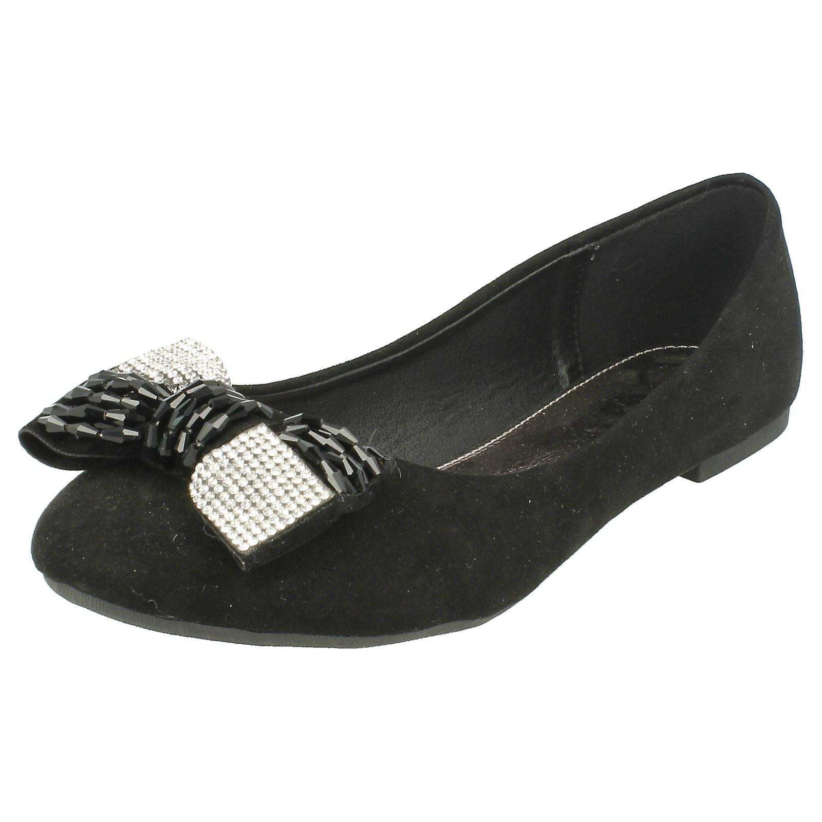Damen-Spot auf Diamante Detail Bogen Schuhe