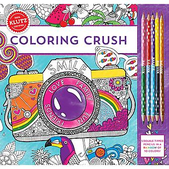 Coloring Crush (Klutz) (Paperback) by Editors Of Klutz