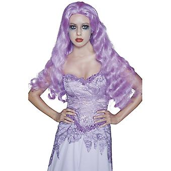 Wig bride from the creepy Castle purple long and wavy