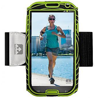 Nathan Sonic Boom Armtasche für Samsung Galaxy S4 schwarz-grün 4925NBE