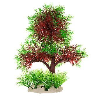 DIGIFLEX Aquarium Ornament Red & Green Forest Tree Decoration