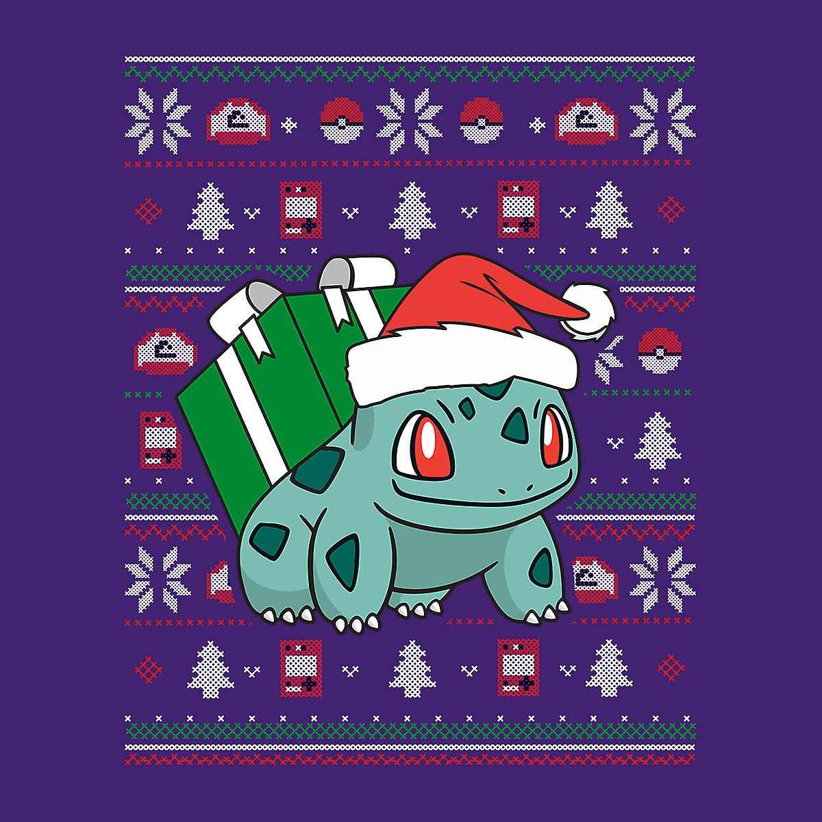 Christmas Bulbasaur Strik mønster Pokemon kvinders hættetrøje