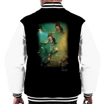 Freddie Mercury In weiße Dame auf der Bühne Männer Varsity Jacke