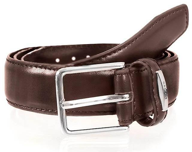 Dents Leather Belt - Brown