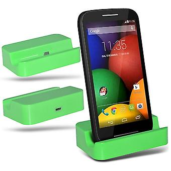ONX3 Alcatel Pop D5 Micro USB Charging Dock Cradle Desktop Charger Station-Green