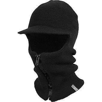 Urban classics - zipped BALACLAVA visor black