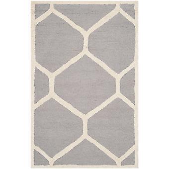 Lulu sølv geometriske uld tæppe - Safavieh