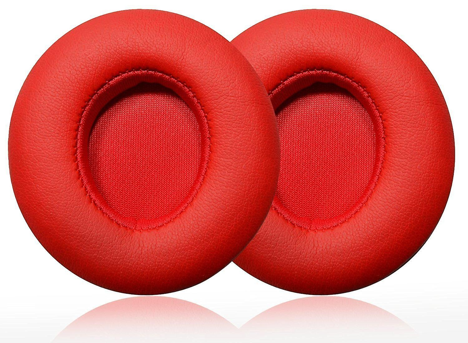 REYTID Replacement Red Ear Pad Kit for Apple Beats By Dr. Dre Solo3 & Solo3 Wireless Cushion - Solo 3.0 - 1 Pair Earpads