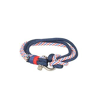 Baxter jewelry London bracelet nylon blue white red jewelry sporty Cap 21.5 cm