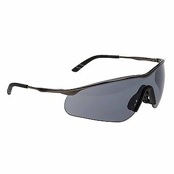Portwest - Tech Metal Frame Robust Anti-Scratch Coated Safety Spectacle