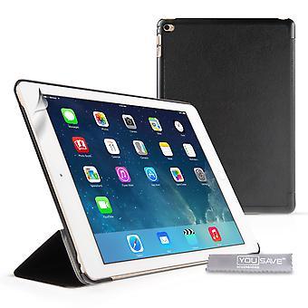 iPad Air 2 skóra Smart pokrycie z Usypianie/Budzenie Stand funkcji czarny