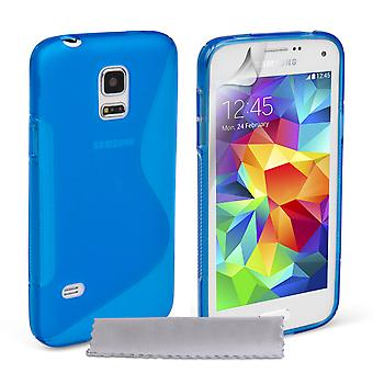 Caseflex Samsung Galaxy S5 Mini silikonowy żel S-Line Case - niebieski