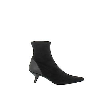 Hogan women's HXW4715GY2060590O Black Suede Ankle Boots