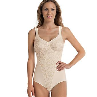 Anita Comfort 3561-709 Women's Ancona Ivory Off-White Floral Non-Wired Firm Control Slimming Shaping Corselette